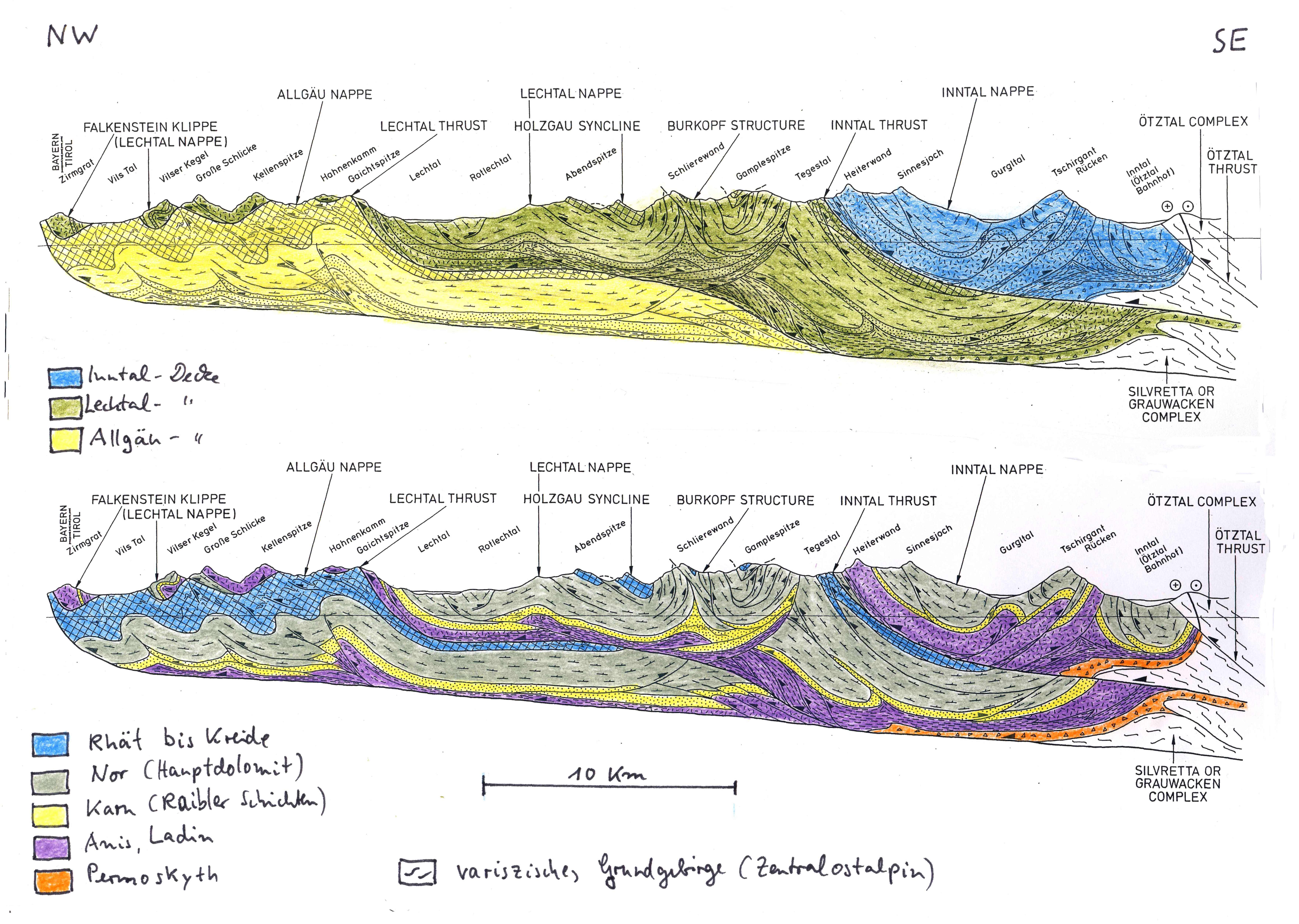 Geologic Map Of Europe.Geology Of The Alps Part 1 General Remarks Austroalpine Nappes