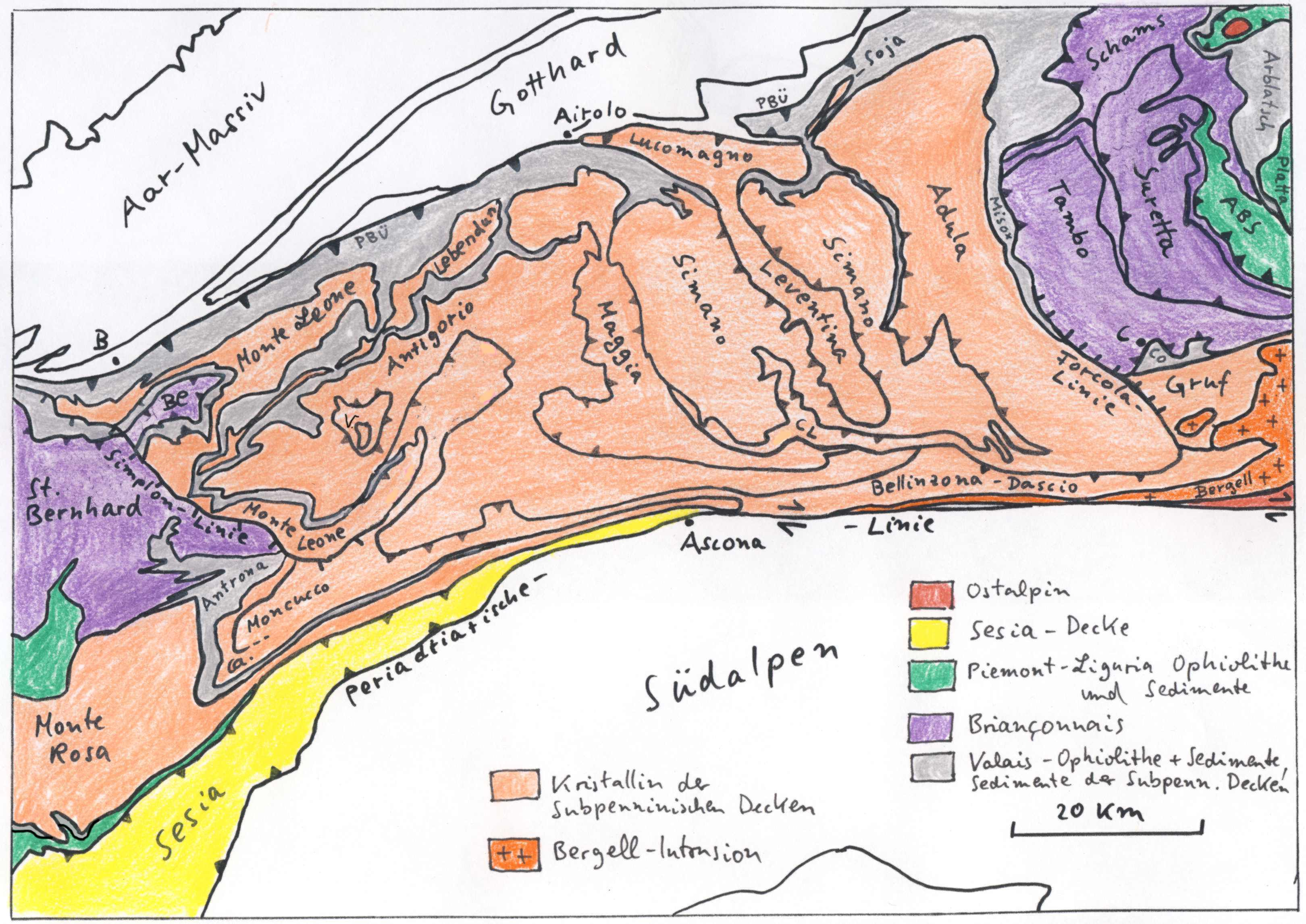 Geology of the Alps Part 2 The Penninic Nappes SteinmannInstitut